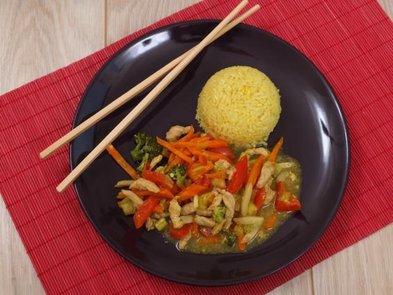 warzywa z indykiem w pięciu smakach