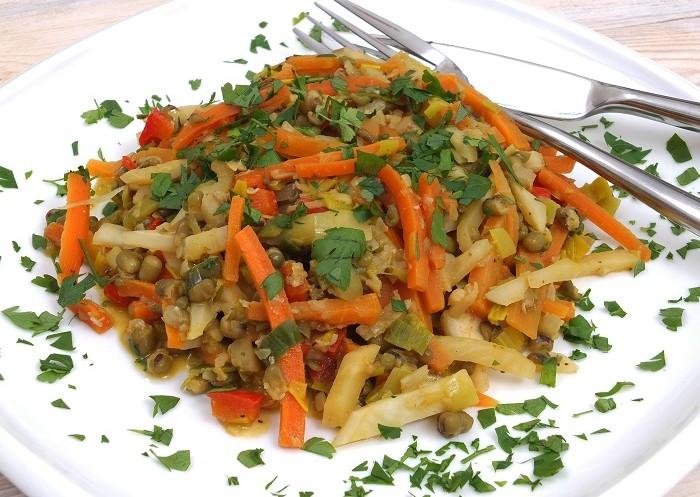 Fasola mung z warzywami
