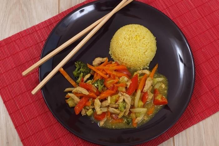 warzywa z indykiem