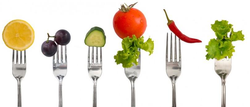 warzywa na widelcu